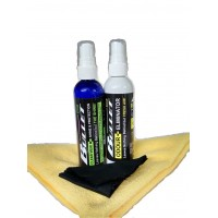 Helmet Care Kit (Sanitizer & visor shine +  2 FREE cloths)