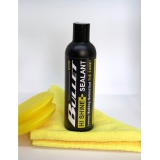 Hi Shine Polymer Sealant Kit: 250ml + FREE microfibre cloth & App. sponge.